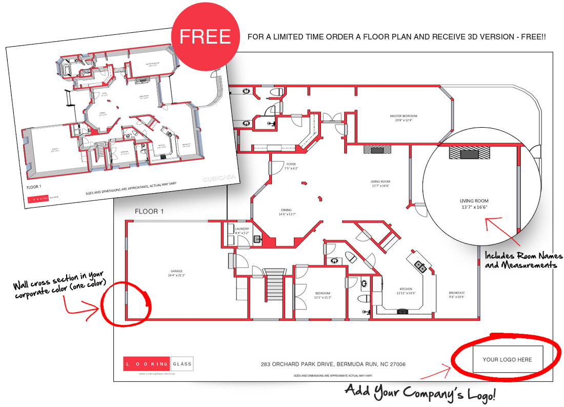 LOOKING GLASS Now Offers Floorplans from 3D Virtual Tours