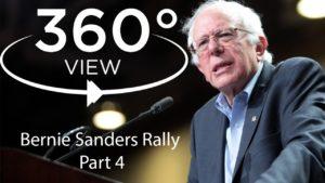 360 streaming video bernie sanders rally