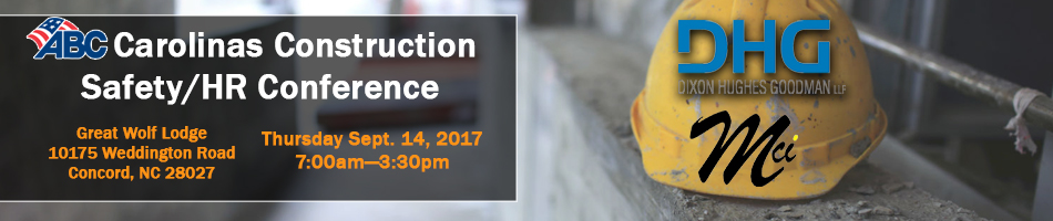 The 2017 ABC Carolinas Construction Safety and HR Conference