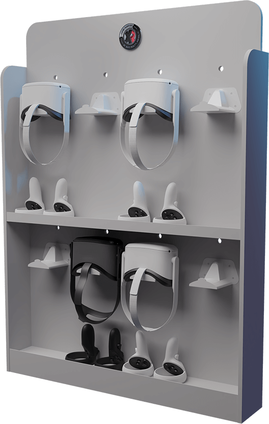 Storage for VR Headsets - The VR PowerWall 8-Unit